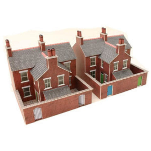 METCALFE Red Brick Terraced Houses N Scale