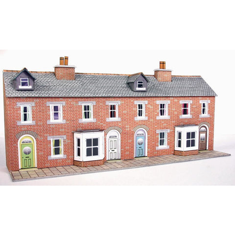METCALFE N RED BRICK TERRACED HOUSE FRONTS