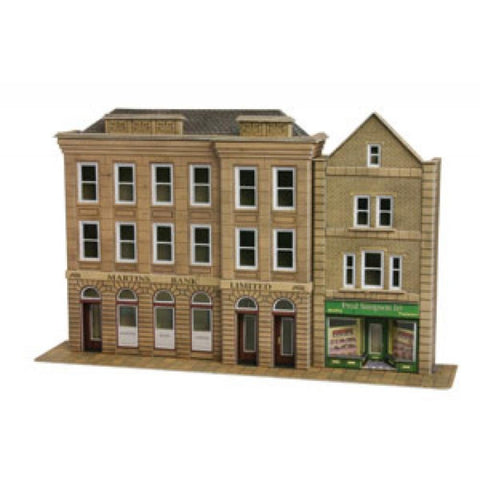 METCALFE Low Relief Bank & Shop HO Scale