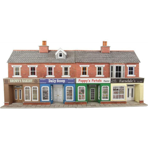 METCALFE Red Brick Shop Fronts HO Scale