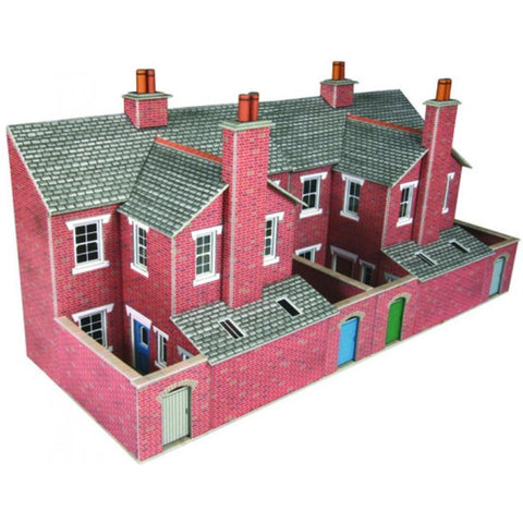 METCALFE LOW REFIEF TERRACED HOUSE BACKS RED BRICK - Hearns Hobbies Melbourne - METCALFE