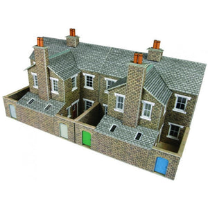 METCALFE Low Relief Terraced House Backs Stone HO Scale