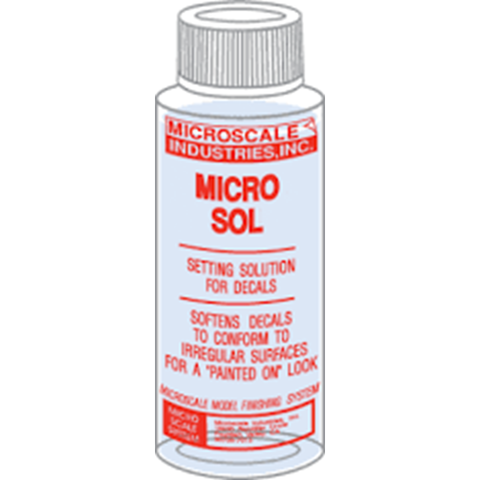 MICROSCALE Micro Sol - 1oz. bottle (Decal Setting Solution)(MI-2)