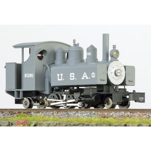MINITRAINS OO9 Baldwin 2-6-2 Loco - Grey (Open Cab)