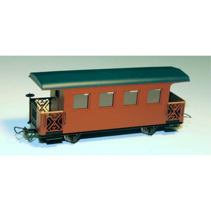 MINITRAINS Passenger Car - Brown