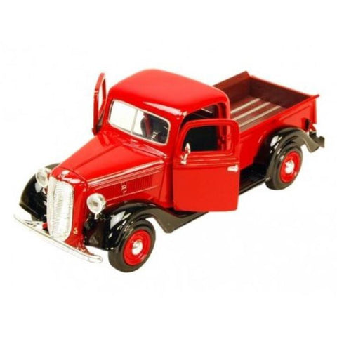 MOTOR MAX (1 x Green, 1 X Red) 1:24 1937 Ford Pickup MX73233