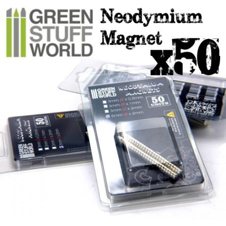 GREEN STUFF WORLD Neodymium Magnets 3 x 1mm - SET x50 (N35)