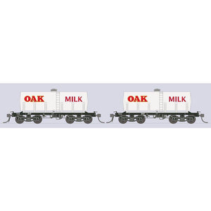 SDS MODELS HO - BMF OAK MILK TANK WAGON