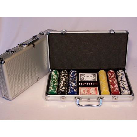 Casino Chips & Accessories - Poker Chips 300 Piece 11.5gm Alum Case