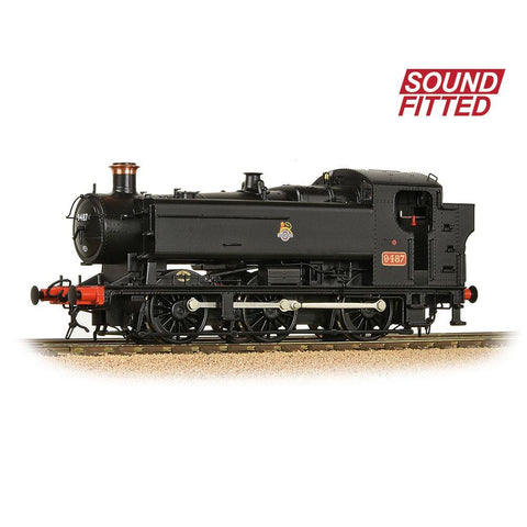 Image of BRANCHLINE OO GWR 94XX Pannier Tank 9487 BR Black (Early Emblem) (Sound Fitted)