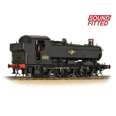 Image of BRANCHLINE OO GWR 94XX Pannier Tank 9479 BR Black (Late Crest) (Sound Fitted)
