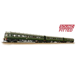 BRANCHLINE OO Class 117 3 Car DMU BR Green Speed Whiskers (Sound Fitted)