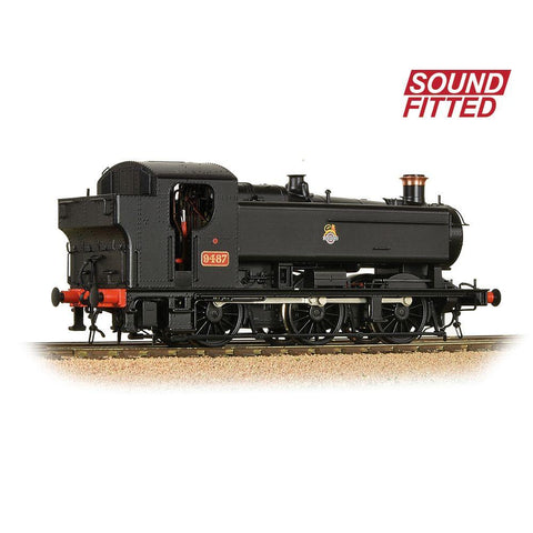 BRANCHLINE OO GWR 94XX Pannier Tank 9487 BR Black (Early Emblem) (Sound Fitted)