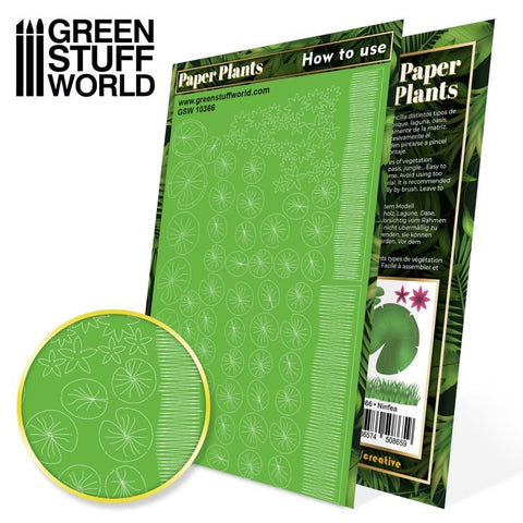 Image of GREEN STUFF WORLD Paper Plants - Lily Pads