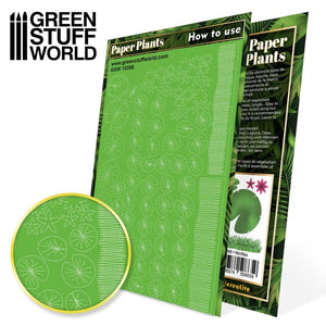 GREEN STUFF WORLD Paper Plants - Lily Pads