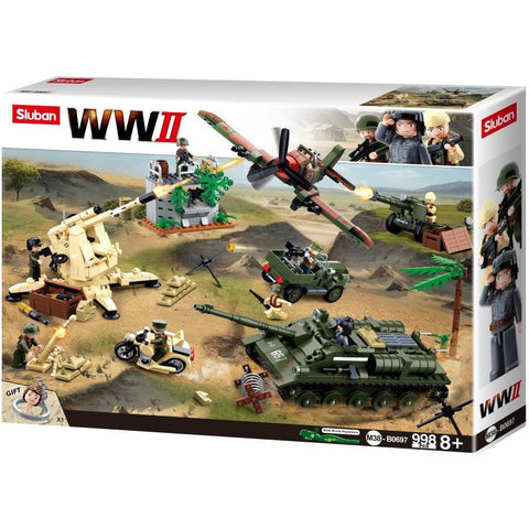 SLUBAN WWII Battle of Kursk 998pcs