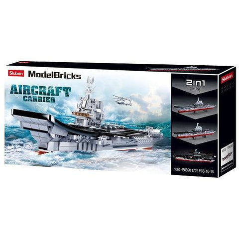 SLUBAN Model Bricks Aircraft Carrier 1/450 Scale 1725pcs