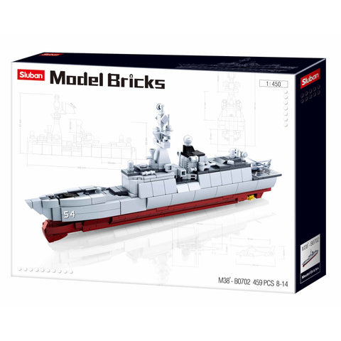 SLUBAN Model Bricks Frigate 054A 1/450 Scale 457pcs