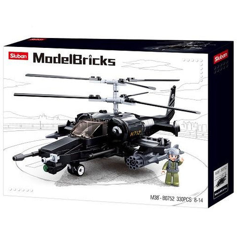 SLUBAN Model Bricks KA-50 Black Shark 333pcs