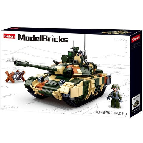 SLUBAN Model Bricks T90MS Battle Tank 772pcs