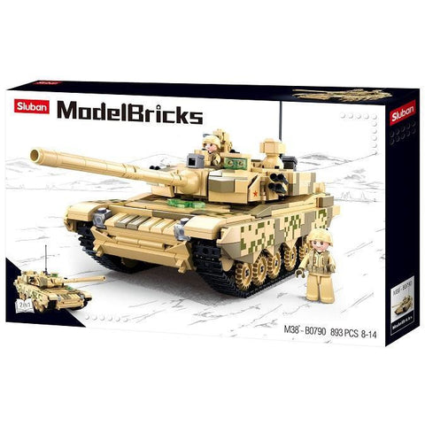SLUBAN Model Bricks Tank 99A 893pcs
