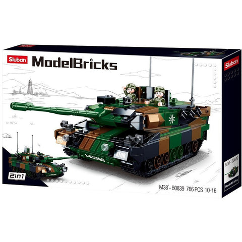 SLUBAN Model Bricks Leopard 2A5 Main Battle Tank 766pcs