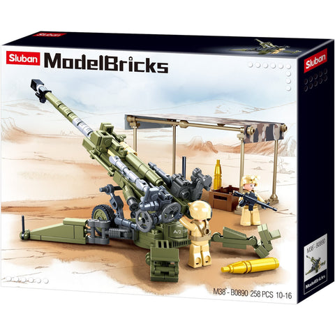 SLUBAN Model Bricks M777 Howitzer 259 Pcs