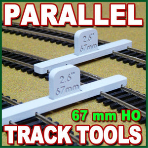PROSES HO/OO Scale Parallel Track Tool 67mm