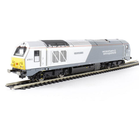 "HORNBY Class 67 Bo-Bo Diesel 67012 ""A Shropshire Lad"" in Wrexham & Shropshire livery (Etched Nameplates). - Hearns Hobbies Melbourne - HORNBY"