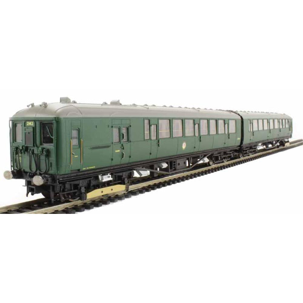 HORNBY Class 401 2-BIL 2-car EMU 2142 in BR green livery DCC Ready - Hearns Hobbies Melbourne - HORNBY