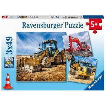 Image of Ravensburger Digger at Work! 3X49pc