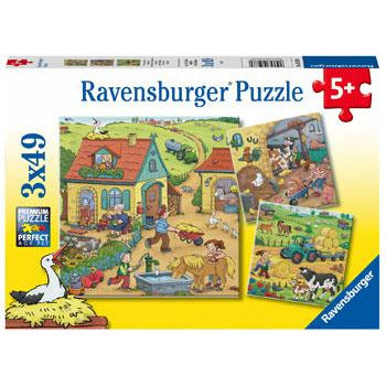 Ravensburger On the Farm 3x49pc