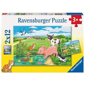 Ravensburger Baby Farm Animals Puzzle 2x12pc