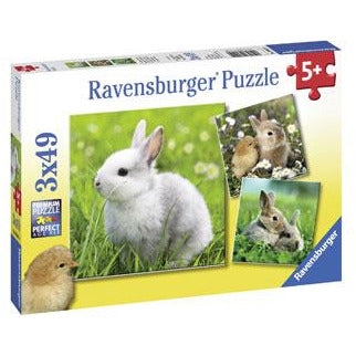 Rburg - Cute Bunnies Puzzle 3x49pc