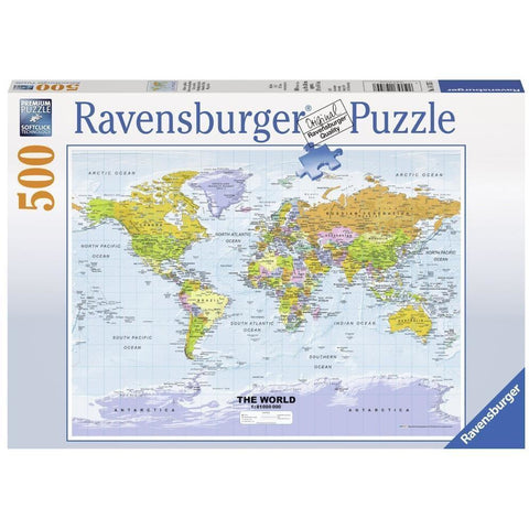 Ravensburger - Political World Map Puzzle 500pc (RB14755-7)