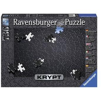 RAVENSBURGER KRYPT Black Puzzle 736pc