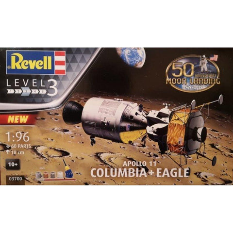 Image of REVELL 1/96 Apollo 11 Columbia & Eagle 50th Anniversary