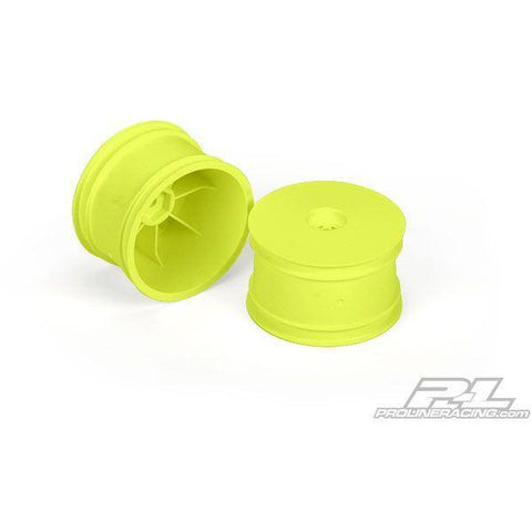 "Velocity 2.2"" Hex Rear Yellow Wheels (2) for 22, RB5/6, B44.1/44.2/44.3 and B4.1/4.2 with 12mm hex - Hearns Hobbies Melbourne - PROLINE"