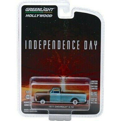 GREENLIGHT 1/64 Independance Day (1996) 1971 Chev C-10 Movi
