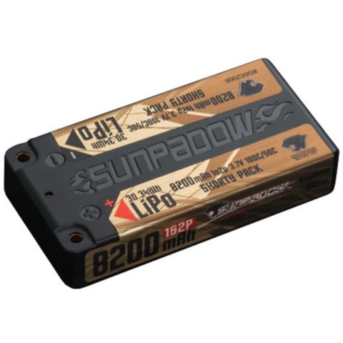 Sunpadow 3.7V 1S 8200mAh 100C/50C Shorty LiPo Battery (S682
