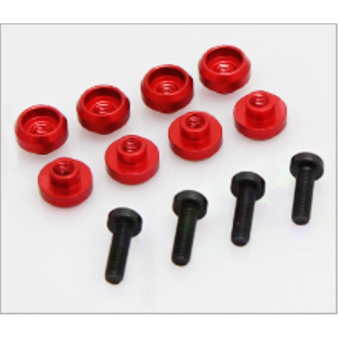 HIGHEST SERVO GROMMET 4.5mm (8pieces)  - Red