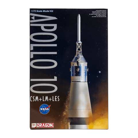 Image of DRAGON 1/72 Apollo 10 CSM + LM + LES Plastic Model Kit