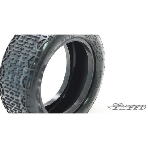 SWEEP Tendroid 1/10 Buggy Tires/Closed Cell Inserts 2 Pc Se