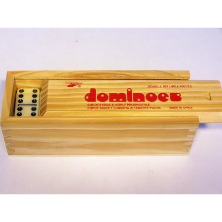 Dominoes - Double Six Wooden Box