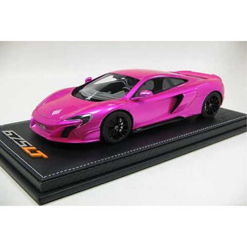 TECNOMODEL 1:18 Mclaren 675 Flash Pink with grey alcantara