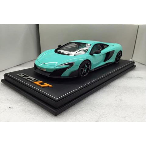 TECNOMODEL 1:18 Mclaren 675 LT Tiffany blue with white inte