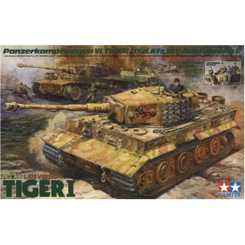 Tamiya 1/35 Tiger Tank with ACE Commander & Crew (T25401)