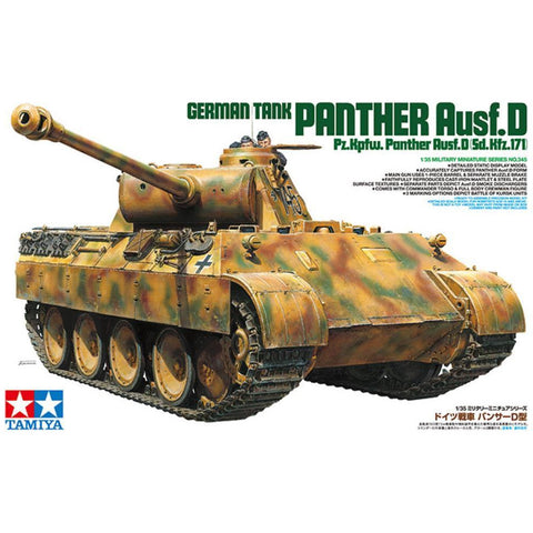 Image of TAMIYA GERMAN TANK PANTHER AUSF.D