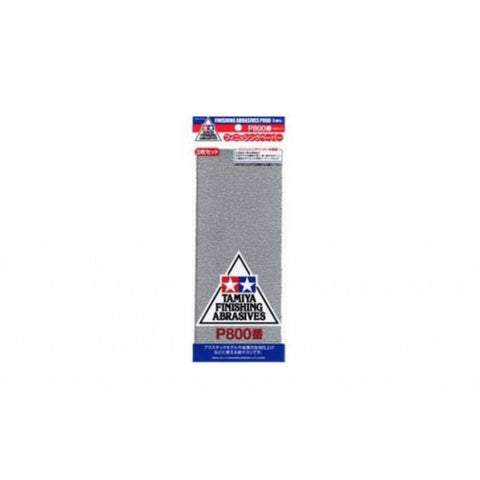 TAMIYA  FINISHING ABRASIVES P800 *3