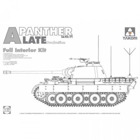 TAKOM1/35 WWII German medium TankSd.Kfz.171/267 Panther Al